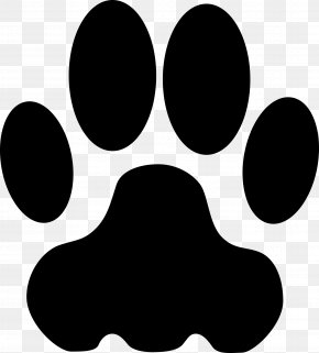 Footstep Clipart - Bulldog Paw Giant Panda Coyote Clip Art PNG