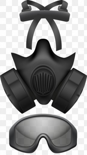 Vintage Clothes - Gas Mask Respirator Clip Art PNG