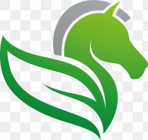 FIG Horse Leafy Material - Logo Flight Wing PNG