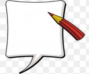 Red Pencil - Speech Balloon Pencil Text Clip Art PNG