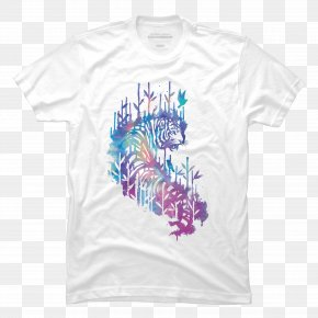 Watercolor Tiger - T-shirt Watercolor Painting Drawing PNG