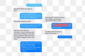 Ice Text - Text Messaging Ice Cream Online Advertising Web Page PNG
