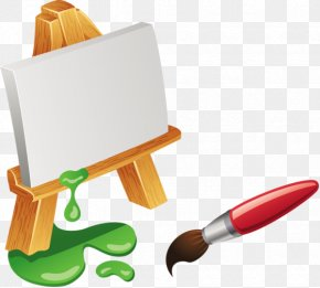 Painting - Easel Painting Paintbrush PNG