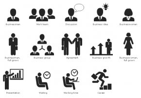 Business Communication Cliparts - Infographic Pictogram Business Communication Clip Art PNG