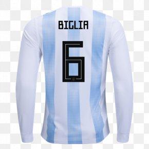 Shirt - Argentina National Football Team 2018 World Cup Jersey Sleeve Shirt PNG