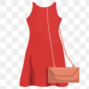 Dress - Dress T-shirt Red Drawing Clothing PNG