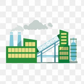Vector Means Coal Plant - Factory Industry Industrial Architecture Building PNG