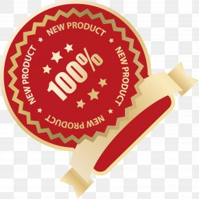 Red Product Label Ribbon Vector - Red Euclidean Vector PNG