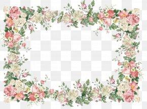 Flower Border - Borders And Frames Flower Picture Frames Floral Design Clip Art PNG