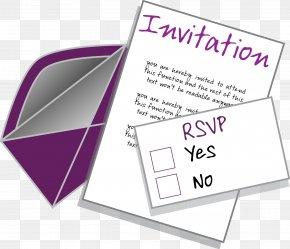 Invitation - Wedding Invitation Party Clip Art PNG
