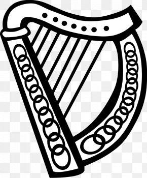 Free Shamrock Clipart - Celtic Harp Clip Art PNG