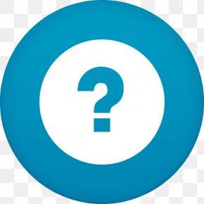 Help - Blue Area Trademark Symbol PNG
