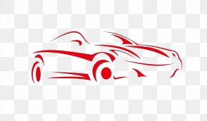 Abstract Red Car - Car Dealership Automobile Repair Shop Vehicle Used Car PNG