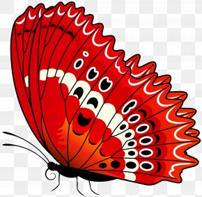 Butterfly Red Transparent Clip Art Image - Butterfly Clip Art PNG