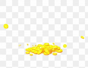 Gold Atmosphere Coin Decoration Pattern - Gold Coin Wallpaper PNG