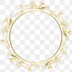Gold Round Floral Border Transparent Clip Art Image - Picture Frame Clip Art PNG