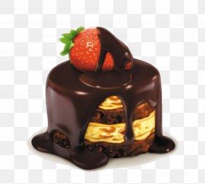 Strawberry Chocolate Cake - Cupcake Cookie Cake Swiss Roll Muffin PNG
