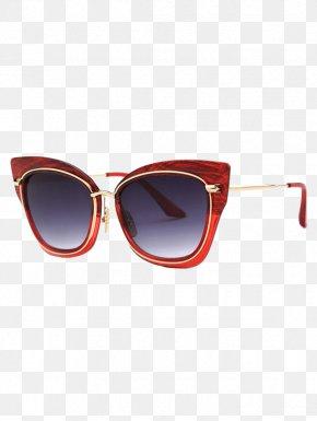 Red Sunglasses - Sunglasses Eyewear Goggles Cat Eye Glasses PNG
