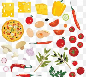 Textured Vegetable Elements - Vegetable Condiment Capsicum Annuum Clip Art PNG