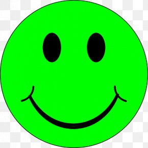 Green Smiley Face - Smiley Emoticon Happiness Clip Art PNG