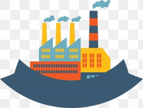 Chemical Building Flat - Power Station Building Icon PNG