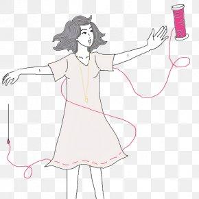 Finger Fashion Design - Line Art Cartoon Drawing Costume Design Fashion Design PNG