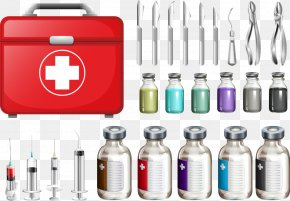Vector Syringe Drugs And Medical Kits - Pharmaceutical Drug Syringe Medicine Medical Equipment PNG