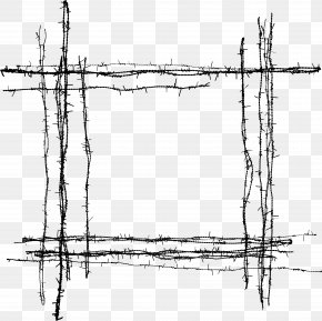 Barbed Wire Material - Barbed Wire Fence PNG