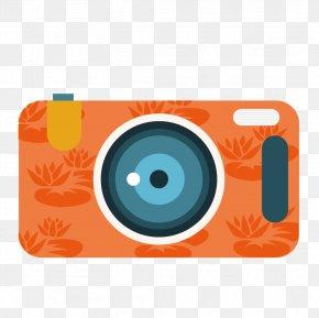 Vector Orange Camera - Digital Cameras PNG