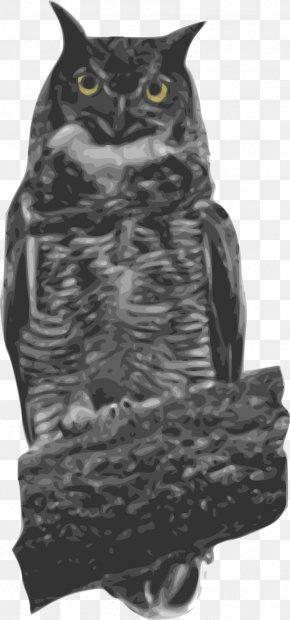 Owl - Great Horned Owl Bird Clip Art PNG