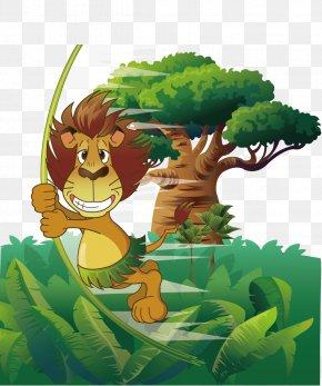 Jungle Lions - Lion Tiger Gray Wolf Euclidean Vector PNG