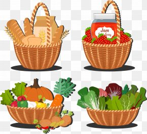 Vegetable Food - Vegetable Basket Adobe Illustrator Cdr PNG