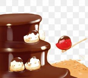 Chocolate Cake Chick - Fondue Chocolate Cake Chocolate Bar Custard Cream PNG