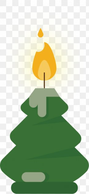 Green Candle Yellow Candle Flame Vector Material - Light Candle Flame PNG