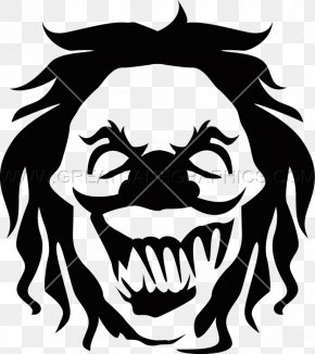 Clown - Black And White Visual Arts Evil Clown Clip Art PNG