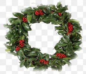 Wreath - Wreath Christmas Garland Holly Clip Art PNG