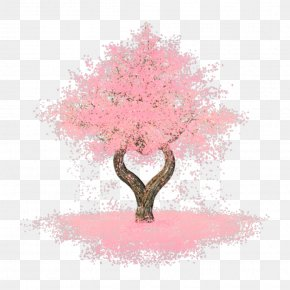 Watercolor Fox tree - Cherry Blossom Image Tree Desktop Wallpaper Pink PNG
