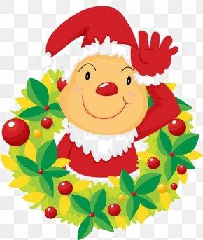 Cartoon Santa Claus - Santa Claus Christmas Tree Cartoon Illustration PNG