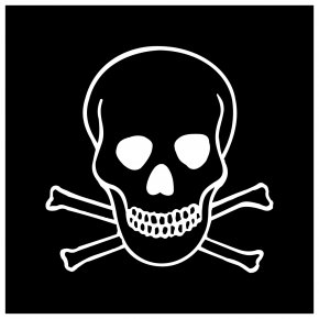 Background Transparent Skull And Crossbones - Hazard Symbol Stock Photography Skull And Crossbones PNG