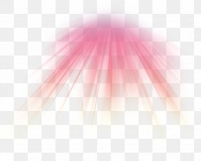 Red Radial Light Effect - Light Triangle Pattern PNG