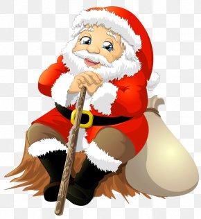 Santa With Bag Clipart - Sticker IMessage WhatsApp Clip Art PNG