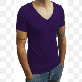 T-shirt - T-shirt Purple Collar Blouse PNG