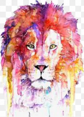 Lion - Lion Watercolor Painting Art Printmaking Drawing PNG
