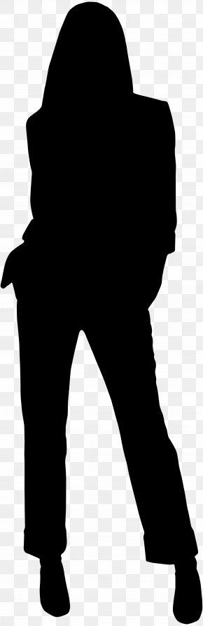 Female Silhouette Clip Art Image - Black And White Human Behavior Shoulder PNG