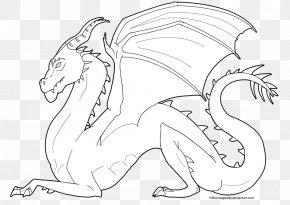 Dragon Line Art - Line Art Carnivora Drawing Cartoon Character PNG