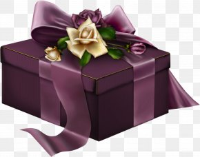 Gift - Gift Wrapping Purple Christmas Gift Clip Art PNG