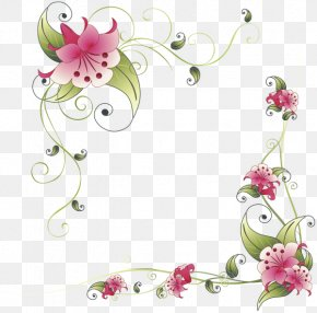 Flower - Borders And Frames Border Flowers Clip Art PNG