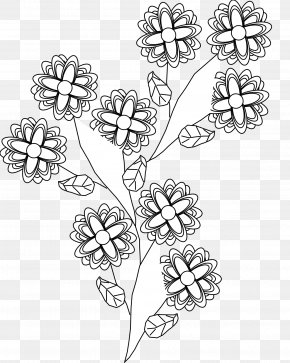 Black And White Flower Tattoo - Tattoo Black And White Body Art Clip Art PNG