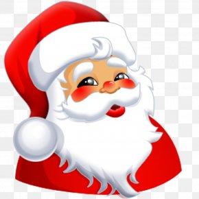 Father Xmas - Santa Claus Smiley Face Clip Art PNG