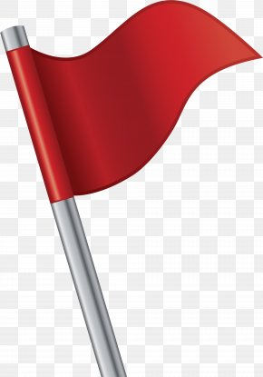 Hand Painted Red Flag Flagpole - Flagpole Flag Of Portugal PNG
